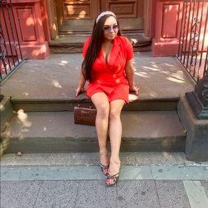 Zara Coral blazer dress